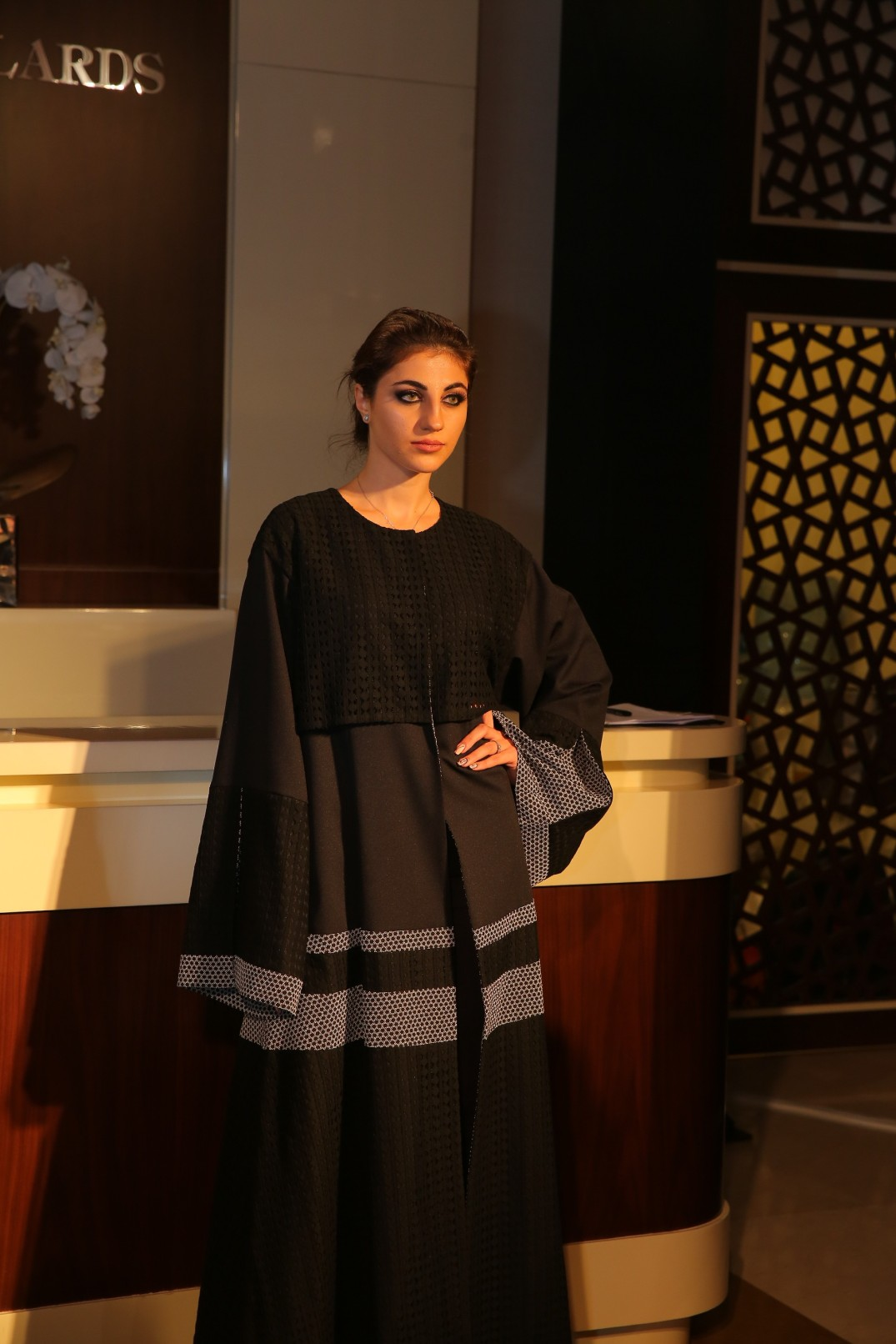model-at-the-launch-of-jeywn-by-eriko-kimono-abaya